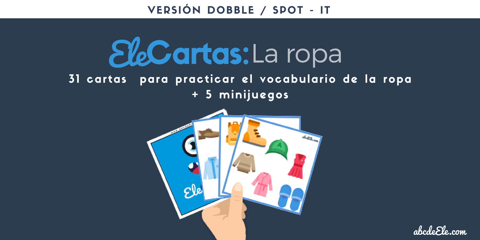 Ele Cartas La Ropa Dobble Spot It Abcdeele