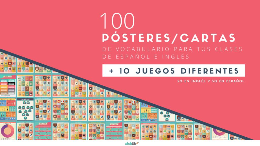 100 Posteres Cartas De Vocabulario Para Tus Clases De Ingles Y